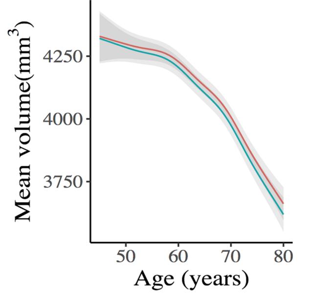 Så här krymper hjärnan oavsett utbildningsnivå i ung vuxen ålder.