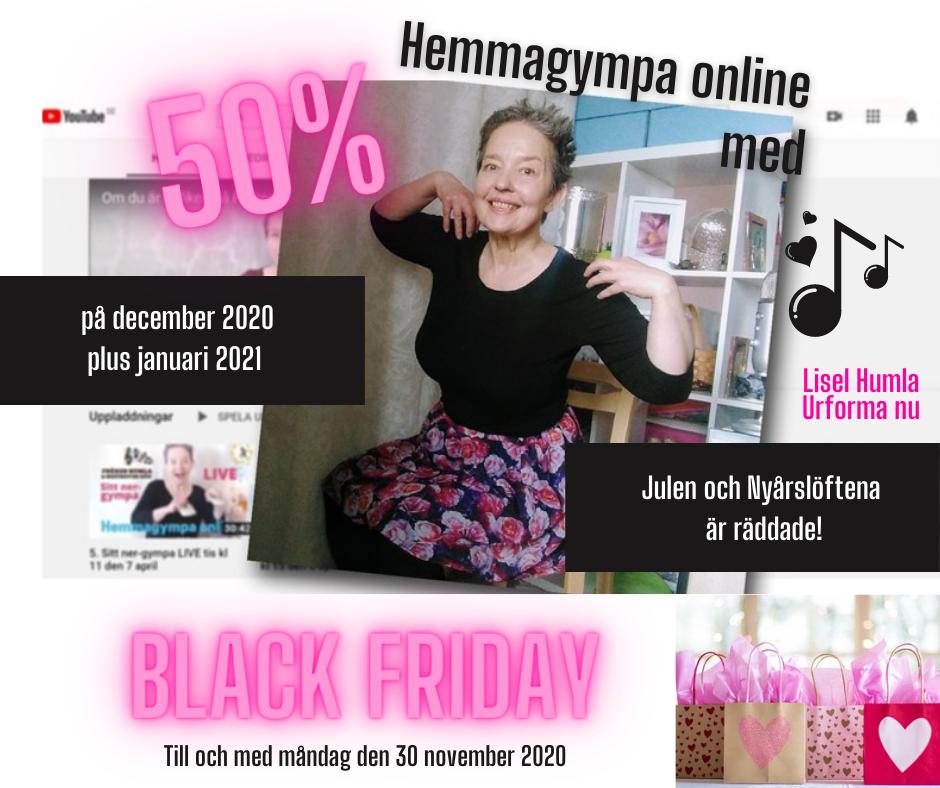 Black Friday 2020 Hemmagympa online med Fröken Humla