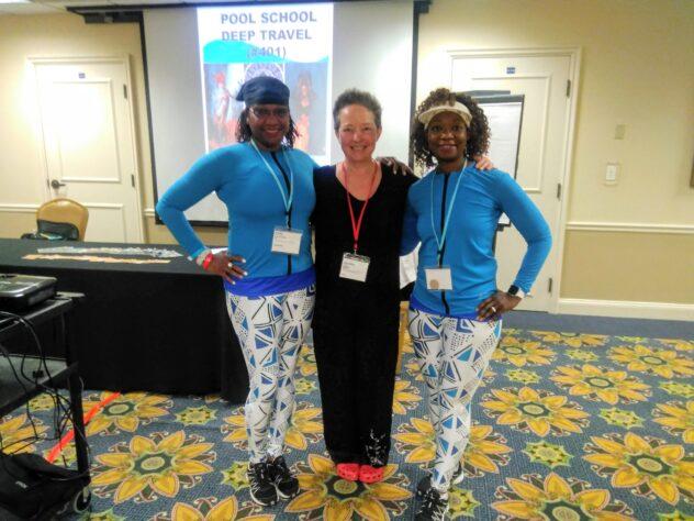 Lisel Humla och Triple Delight i Pool School Deep Travel 2019