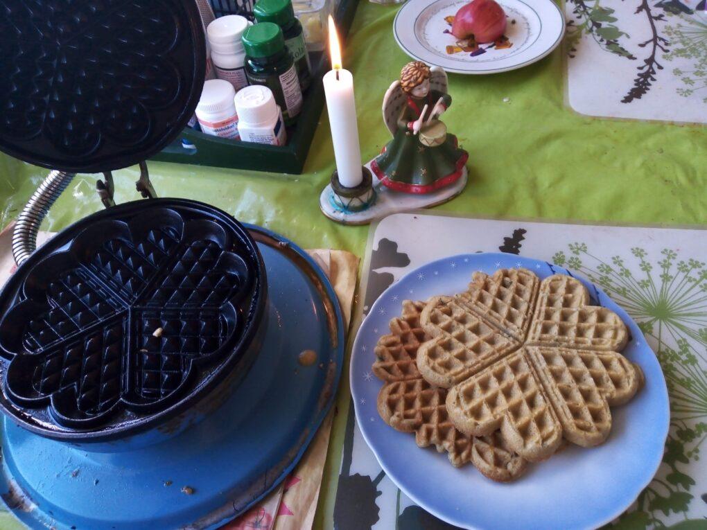 glutenfria våfflor med ägg