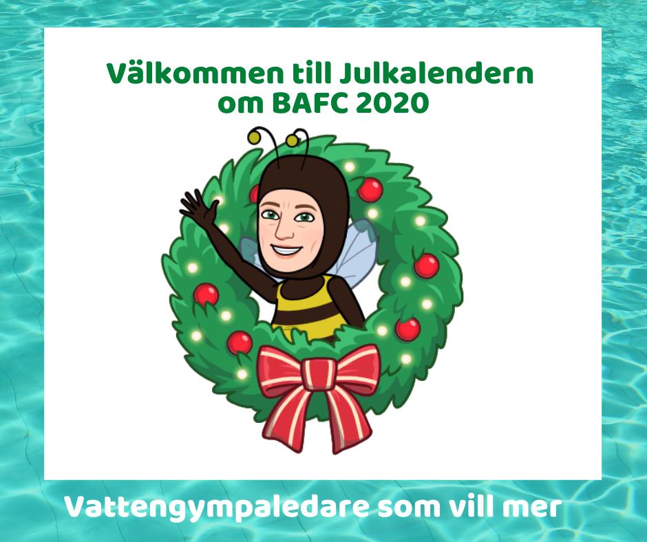 Julkalender för Vattengympaledare som vill mer 2020