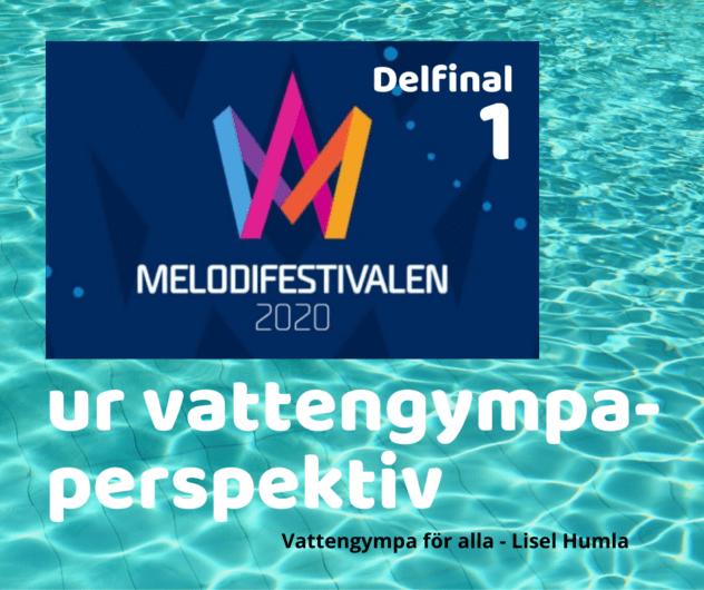 Delfinal i Melodifestivalen 2020 ur vattengympa-perspektiv