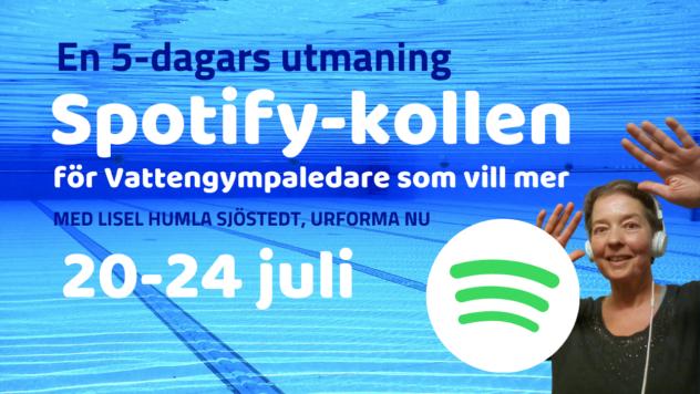 Spotify-kollen för vattengympaledare på rätt kurs
